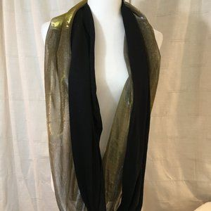 NWT Express Scarf Shimmery Gold Silver and Black